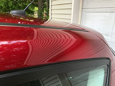 C Max Roof Rail Dent After Repair